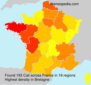 Familiennamen Cail - France