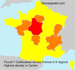 Surname Caillaudeau in France