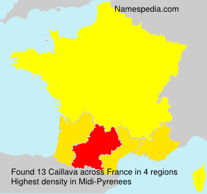 Surname Caillava in France