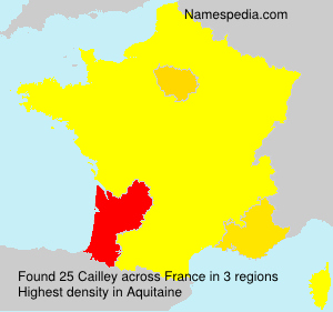Surname Cailley in France