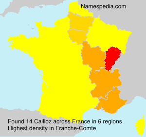 Surname Cailloz in France