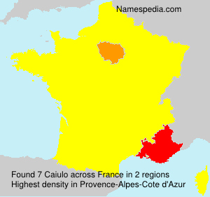 Surname Caiulo in France