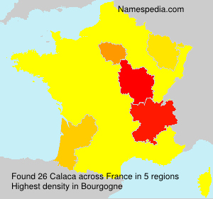Surname Calaca in France