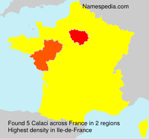 Surname Calaci in France
