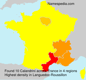 Surname Calandrini in France