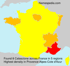 Surname Calascione in France