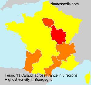 Surname Calaudi in France