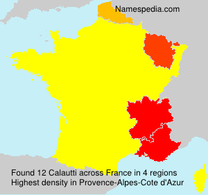 Surname Calautti in France