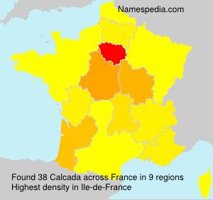 Surname Calcada in France