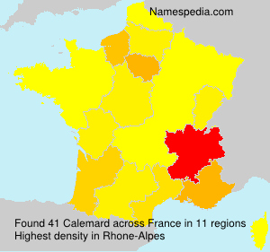 Surname Calemard in France