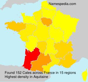 Familiennamen Cales - France