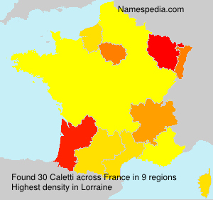 Surname Caletti in France