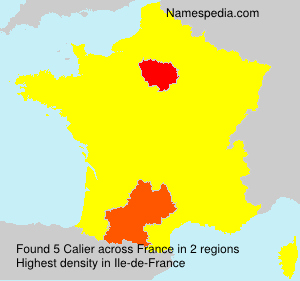 Surname Calier in France