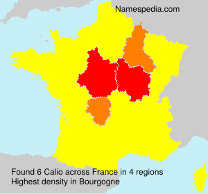 Surname Calio in France