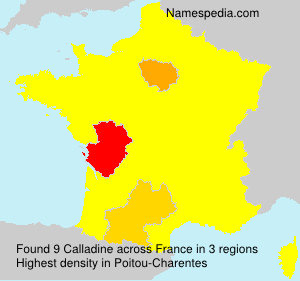 Surname Calladine in France