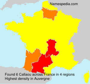 Surname Callaou in France