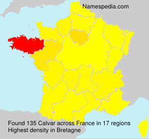 Surname Calvar in France