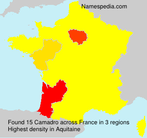 Surname Camadro in France