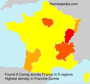 Surname Camaj in France
