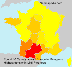 Surname Camaly in France