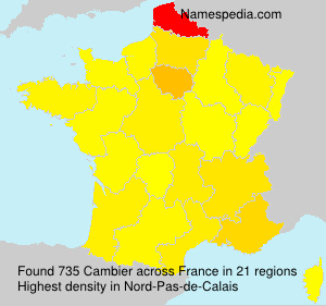 Surname Cambier in France