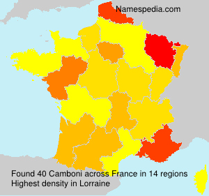 Surname Camboni in France
