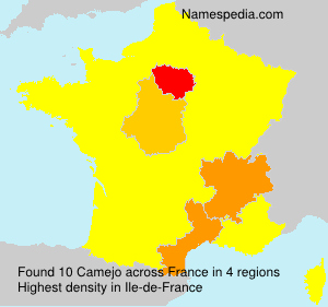 Surname Camejo in France