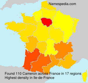 Surname Cameron in France