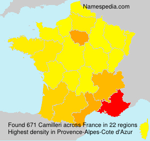 Surname Camilleri in France