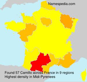 Surname Camillo in France