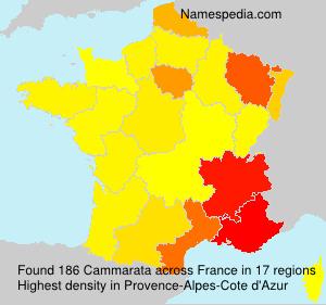 Surname Cammarata in France