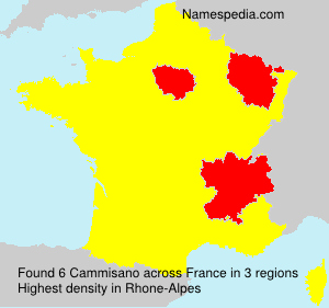 Surname Cammisano in France