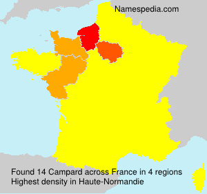 Surname Campard in France