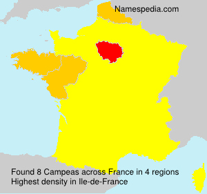 Surname Campeas in France