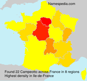 Surname Campeotto in France