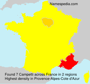 Surname Campetti in France