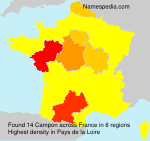 Surname Campon in France