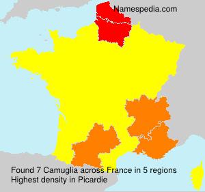 Surname Camuglia in France