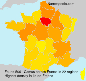 Surname Camus in France