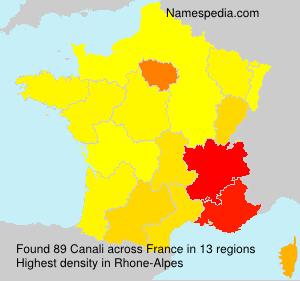 Familiennamen Canali - France