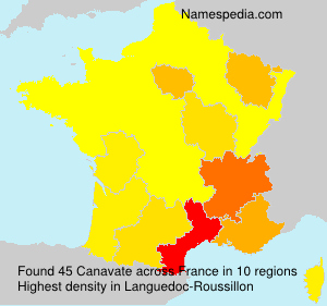 Surname Canavate in France