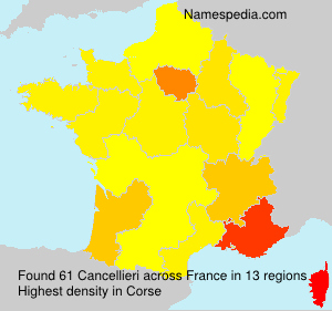 Surname Cancellieri in France