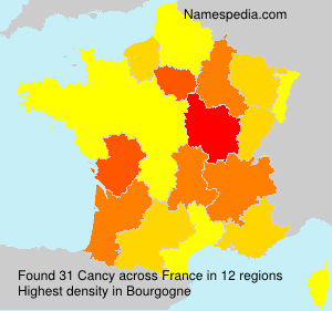 Surname Cancy in France