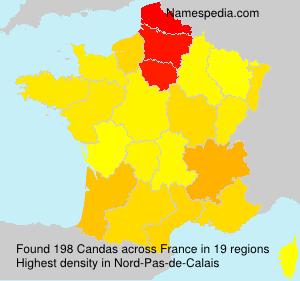 Familiennamen Candas - France