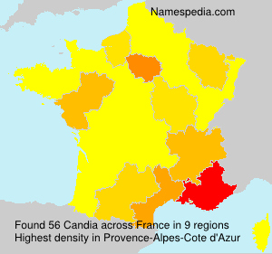 Surname Candia in France