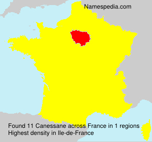 Surname Canessane in France