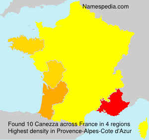Surname Canezza in France