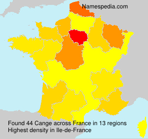Surname Cange in France