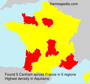 Surname Canham in France
