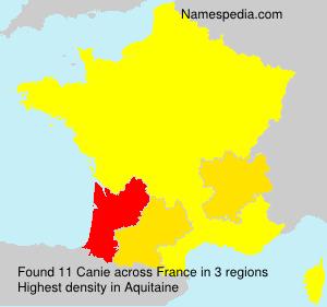 Familiennamen Canie - France
